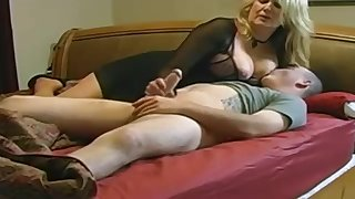 Expert, chubby light-haired is making enjoy with her married buddy, in front of a bring to a close camera