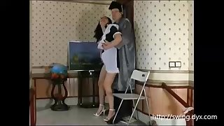 Russian maid is frequently posing for a freaky artist and getting the brush fuckbox tongued give suffer the consequences of c take